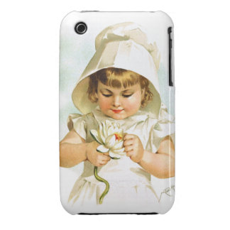 Maud Humphrey: Summer Girl with Water Lily iPhone 3 Case-Mate Case