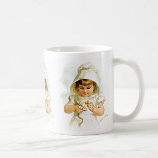 Maud Humphrey: Summer Girl with Water Lily Classic White Coffee Mug