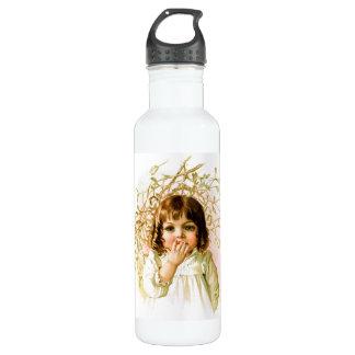 Maud Humphrey: Winter Girl under Mistletoe Water Bottle