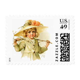 Maud Humphrey: Winter Girl with Branch Postage
