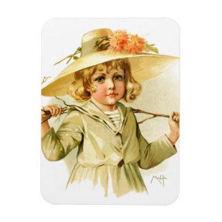 Maud Humphrey: Winter Girl with Branch Rectangular Magnets