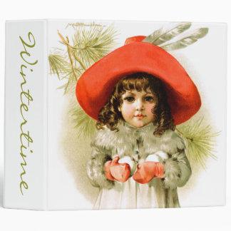Maud Humphrey: Winter Girl with Snowballs Vinyl Binders