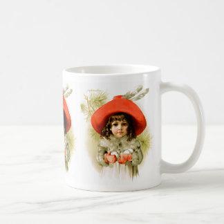 Maud Humphrey: Winter Girl with Snowballs Classic White Coffee Mug