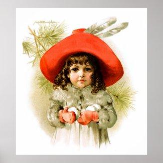 Maud Humphrey: Winter Girl with Snowballs