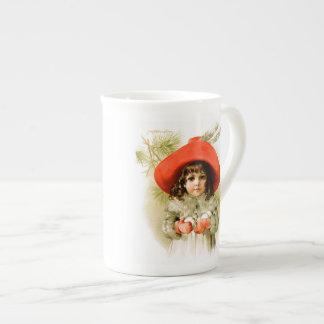 Maud Humphrey: Winter Girl with Snowballs Tea Cup