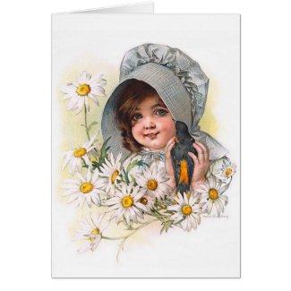 Maud Humphrey's Daisy Girl card