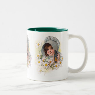 Maud Humphrey's Daisy Girl Two-Tone Coffee Mug