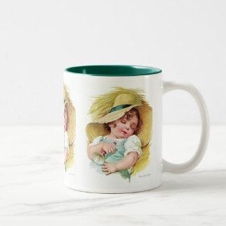 Maud Humphrey's Sleeping Child Two-Tone Coffee Mug