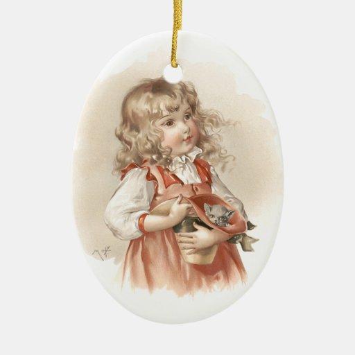 Maud Humphrey's Summer Girl Christmas Ornaments