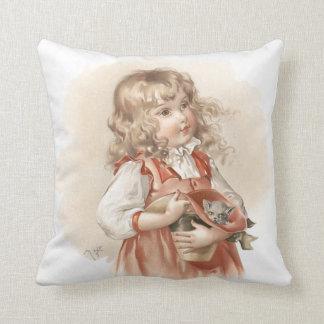 Maud Humphrey's Summer Girl Throw Pillows