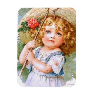 Maud Humphrey's Sweet Little Summer Girl Rectangle Magnets