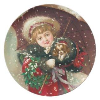 Maud Humphrey: Winter Girl with Dog