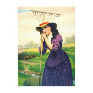 Maud Muller 1868 Canvas Print