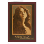 Maude Fealy Vintage Theater Poster Card