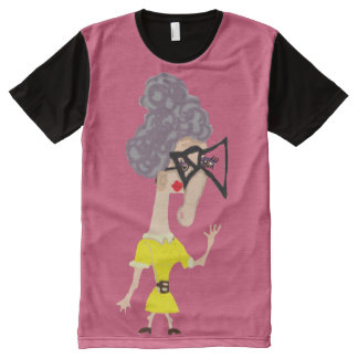 Maudine And Her Square Glasses All-Over Print T-shirt
