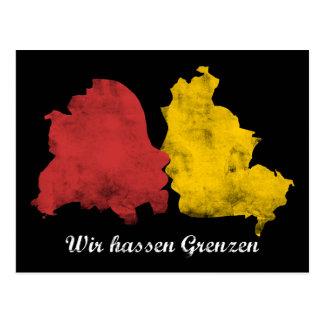 Mauerfall - Wir hassen Grenzen Postcards