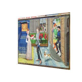 Maugis of Aigremont and Isanne Canvas Print