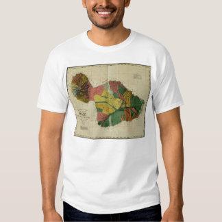 Maui, 1885, Vintage Hawaii Map Tee Shirt
