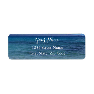 Maui Beach Address Labels