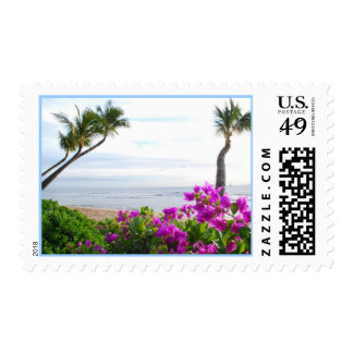 Maui Beach Postage Stamp