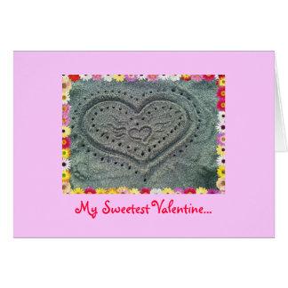 Maui Beach Sand Hearts, Valentine Card