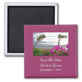Maui Beach Save The Date Magnet