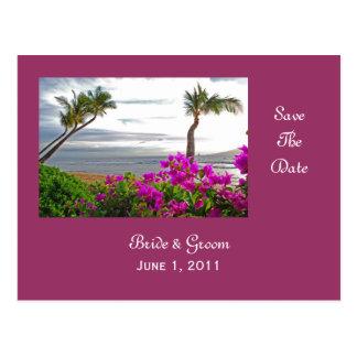 Maui Beach Save The Date Postcard