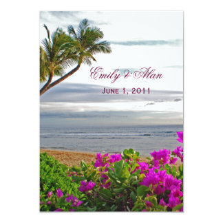 Maui Beach Wedding Invitations