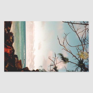 """Maui black rock beach"" collection Rectangular Sticker"