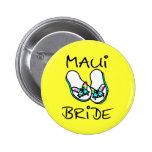 Maui Bride Wedding Favors Button