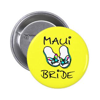 Maui Bride Wedding Favors Pinback Button