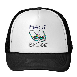Maui Bride Wedding Trucker Hats
