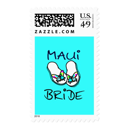 Maui Bride Wedding Postage