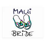 Maui Bride Wedding Postcard