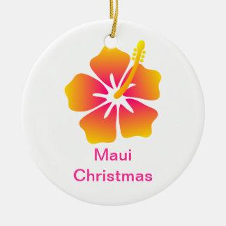Maui Christmas Ceramic Ornament
