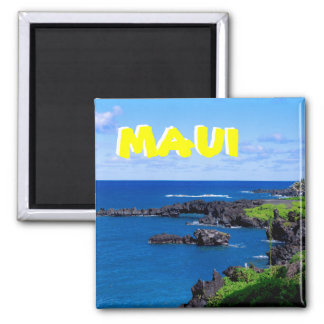 Maui Coastline - Hawaii 2 Inch Square Magnet