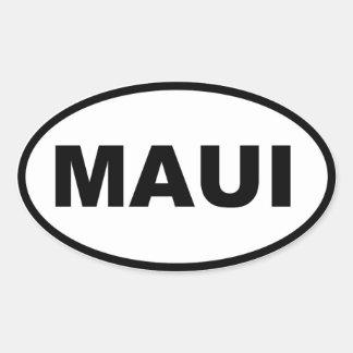 Maui Colcomanias De Óval Personalizadas