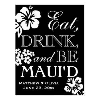 Maui Destination Beach Wedding Save the Date Postcard