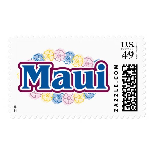 Maui flowers stamps