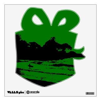 MAUI GOLF GREEN MORNING XMAS WALL DECAL, GIFT WALL STICKER