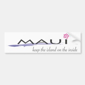 Maui - guarde la isla en el interior pegatina para auto