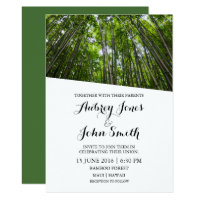 Maui Hawaii Bamboo Forest Wedding Invitation