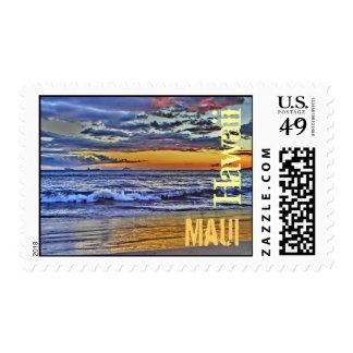 Maui Hawaii beach stamp