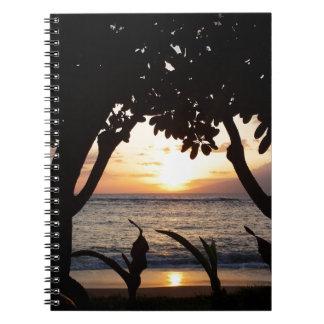 Maui Hawaii Beach Sunset Notebook