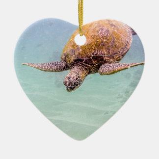Maui Hawaii Beach Turtle 2014 Christmas Ornaments