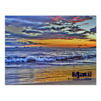 Maui Hawaii beach waves postcard