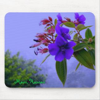 Maui Hawaii Blue Hibiscus Tropical Flowers Mouse Pad