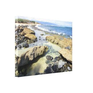 Maui Hawaii coastline scenery canvas wrap Canvas Print