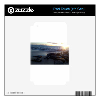 Maui Hawaii en la puesta del sol iPod Touch 4G Skin