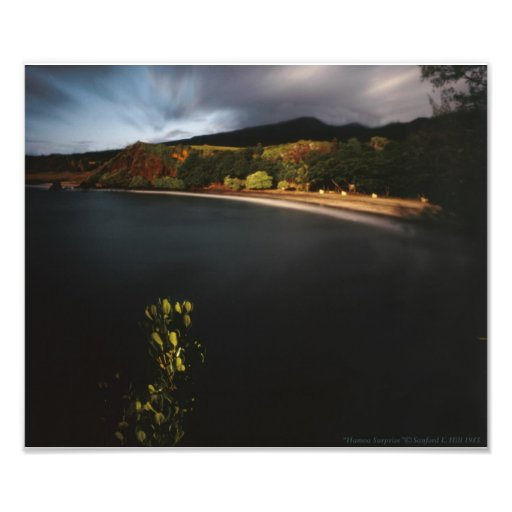 "Maui Hawaii moonlight seacape ""Hamoa Surprise"" Art Photo"